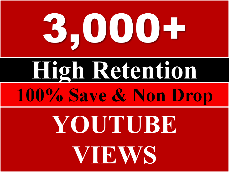 Get 2500 to 3500 youtube views REAL HUMAN OR 2,00+ youtube Likes
