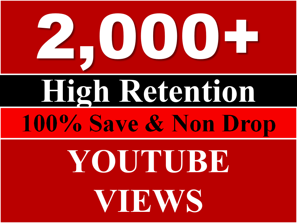Get  2000+ Youtube views( REAL HUMAN ) OR 700+ youtube likes