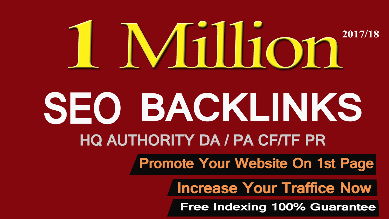Get 1 Million Do Follow Backlinks which Rank your site
