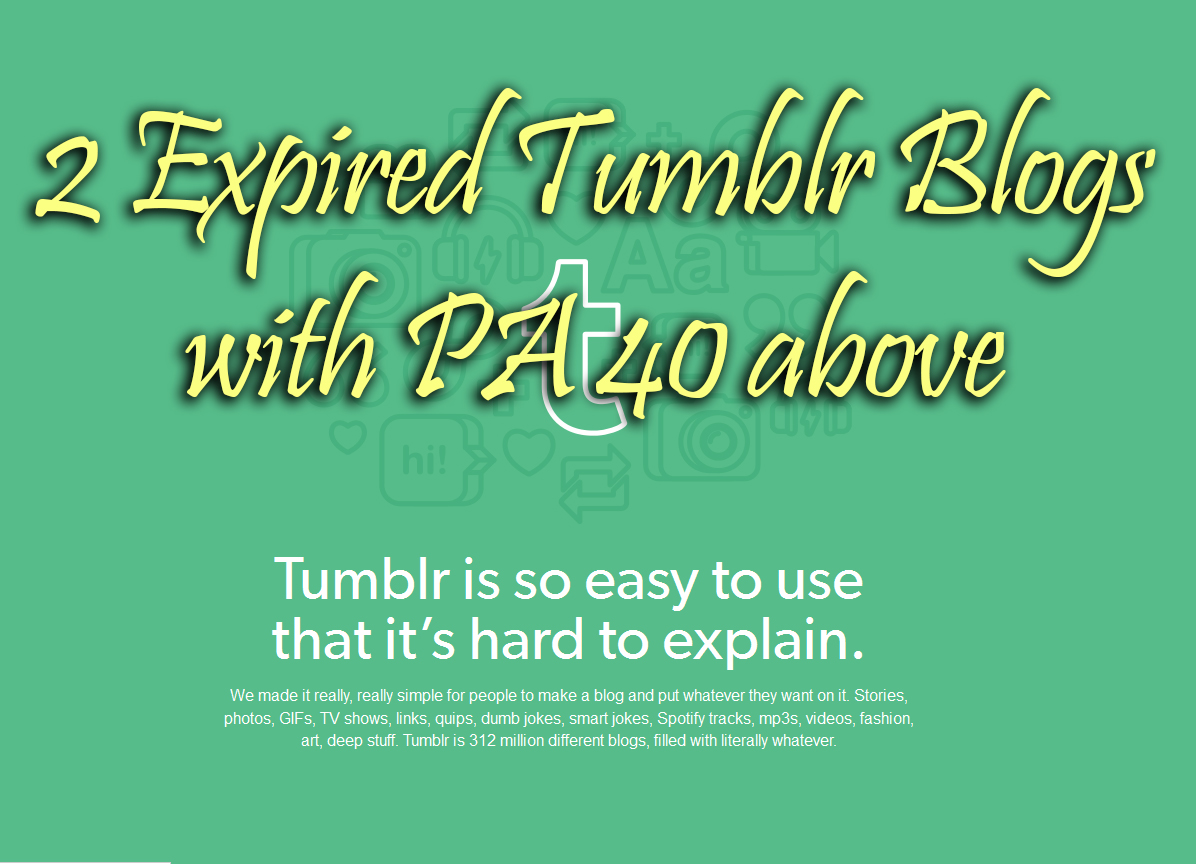 600+ Orders - I will Find and Register one expired tumblr blog with Moz PA40 and above