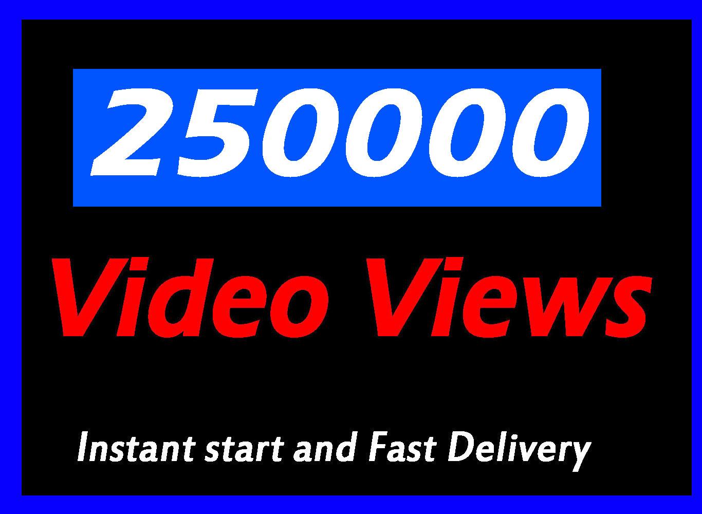 250000+ or 250k World Wide Video views Promotion Social media Marketing