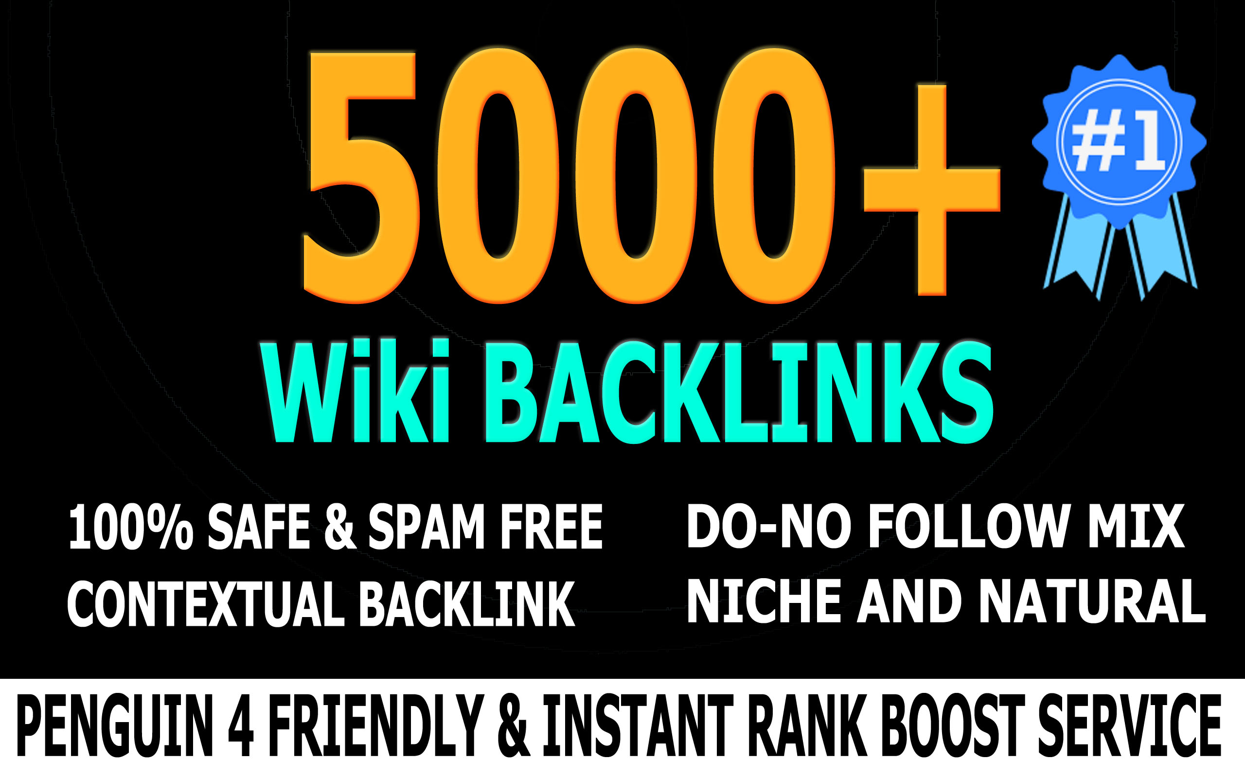 Rank you #1 with 5000 High PR Quality Wiki Backlinks