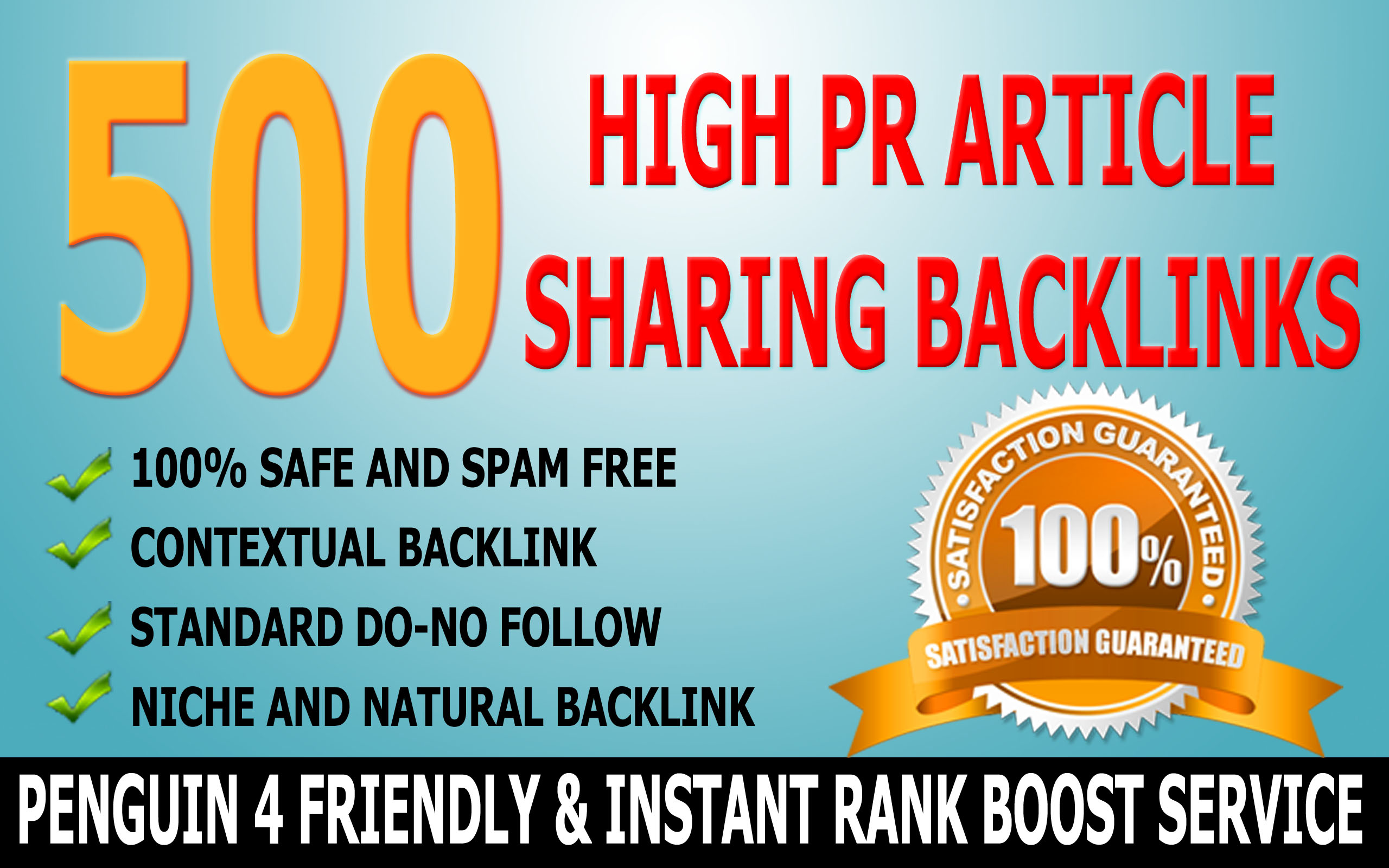 SkyRocket Your Rank with 500 High PR Article Sharing Backlinks