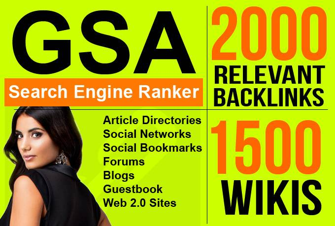 build GSA Search Engine Ranker 3500 Authority Backlinks for your website seo