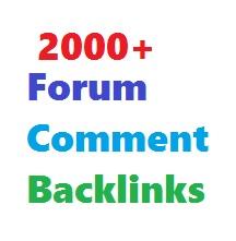 Create 2000+ Forum Comment Backlinks