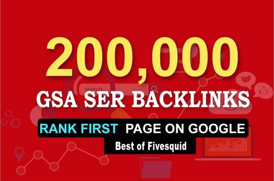 Do 100,000 Gsa Ser Quality Backlinks For Seo