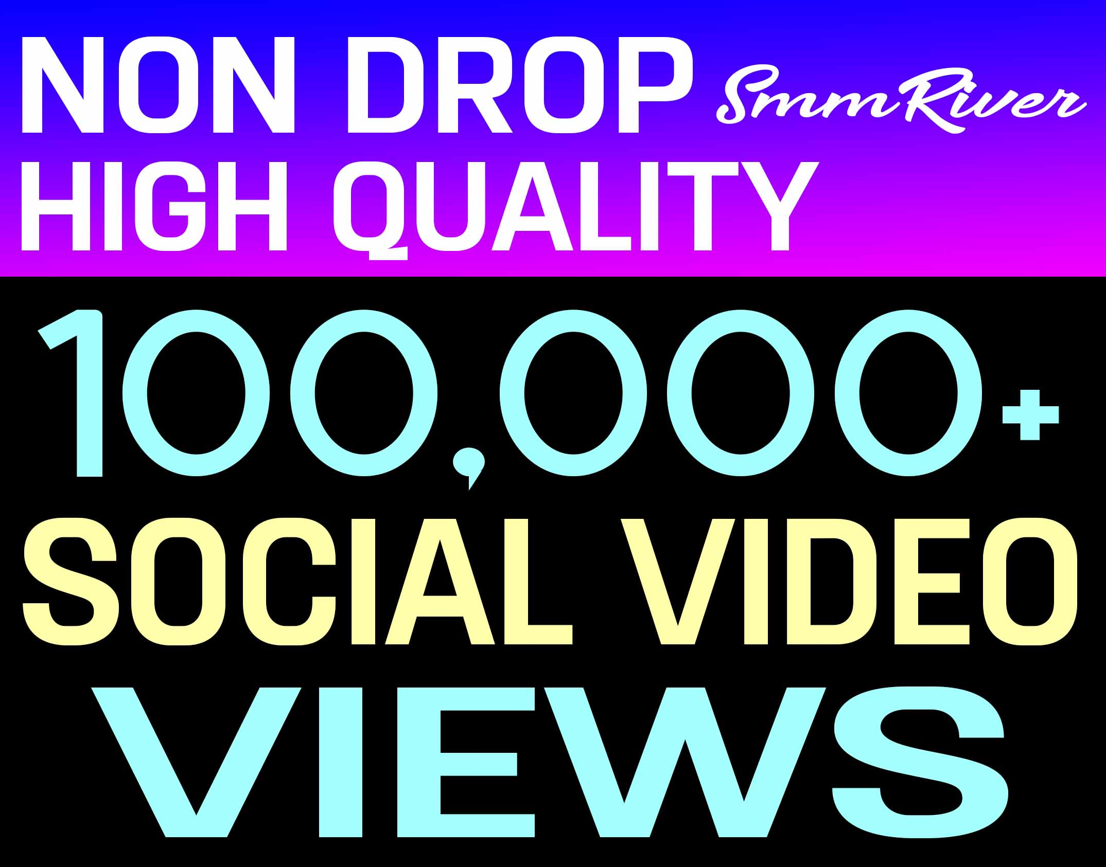 100,000+ SOCIAL VIDEO PROMOTION HIGH QUALITY AND NON DROP - INSTANT START
