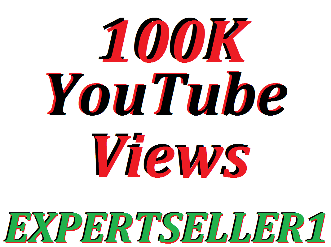 Limited Offer 100K HQ You-Tube Vie/ws In Your Video