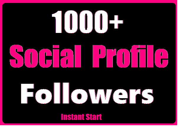 Get 1000+ Social Profile Followers High Quality