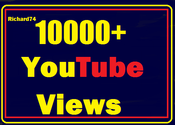 Instant start 10000+ to 14000+ Youtube vie ws fully safe,non drop refill  guaranteed
