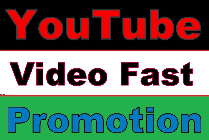 Youtube Video PROMOTION Safe and Fast Guaranteed