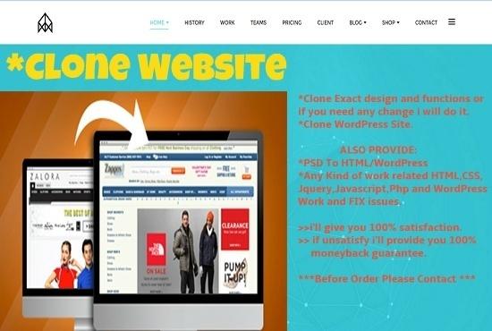 duplicate, clone or copy a website and make it unique