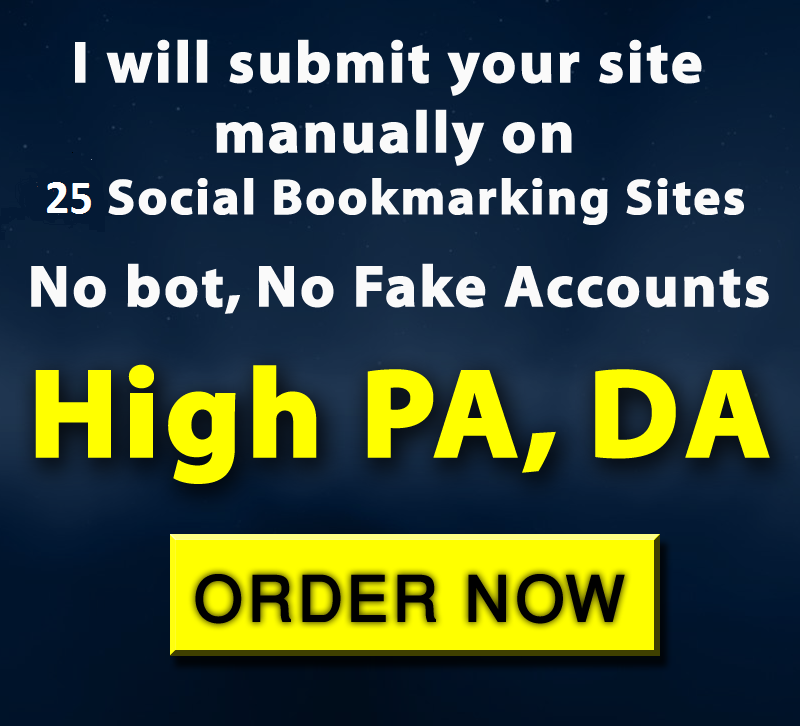 Manually Bookmark your site to Top 25 Social Bookmark...