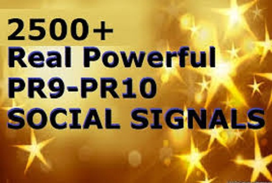 Build 2500 Powerful Social Signals