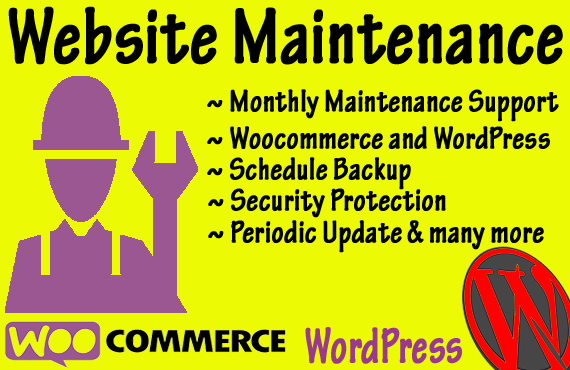 Monthly Website Maintenance and Management support