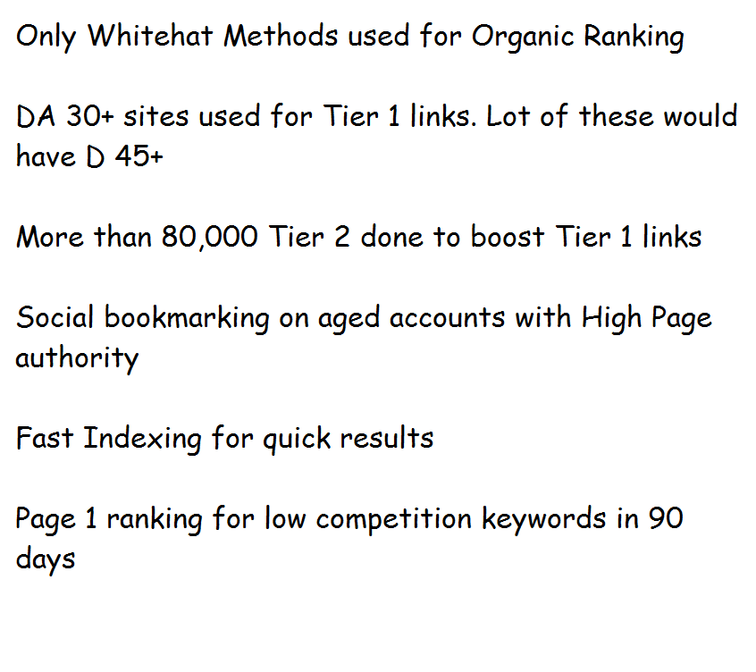 Google Page 1 Ranking in 90 days.+++ complete seo link building service ++