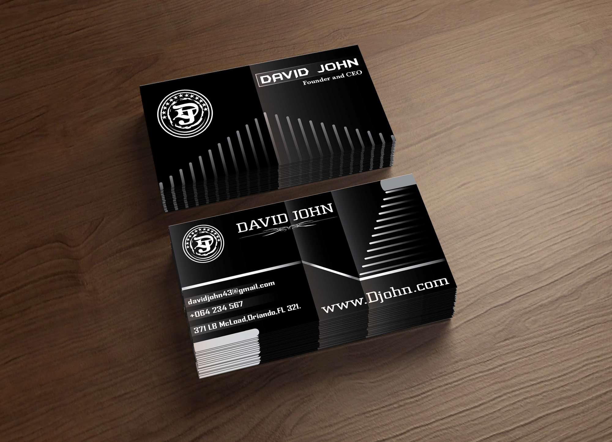 create PROFESSIONAL 2 unique business cards