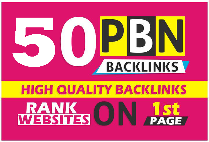 Create 50 high DA/PA and TF/CF homepage pbn backlinks post