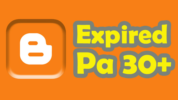 Give 2 expired blogspot Page Authority 30 +