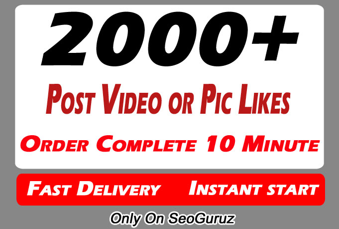 Instant 2000+ High Quality Social Pictures Post Promotion