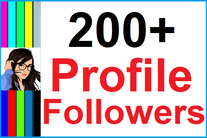 Instant Add 200+ Social Profile Followers High Quality