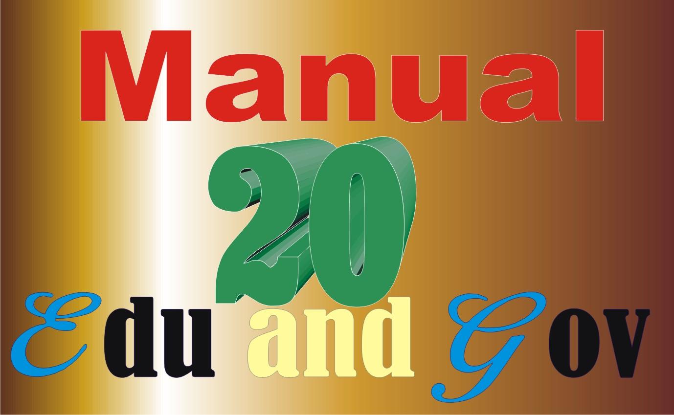 Manual create 10 web 2.0 and 20 EDU/Gov to rank you on Google
