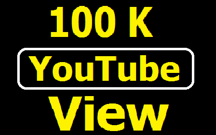 Add Safe 100,000 YouTube View with 100 Likes fast delivery
