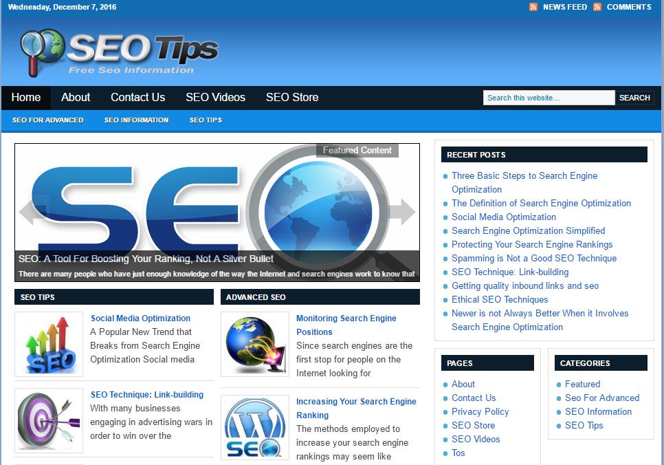 SEO Tips Blog script