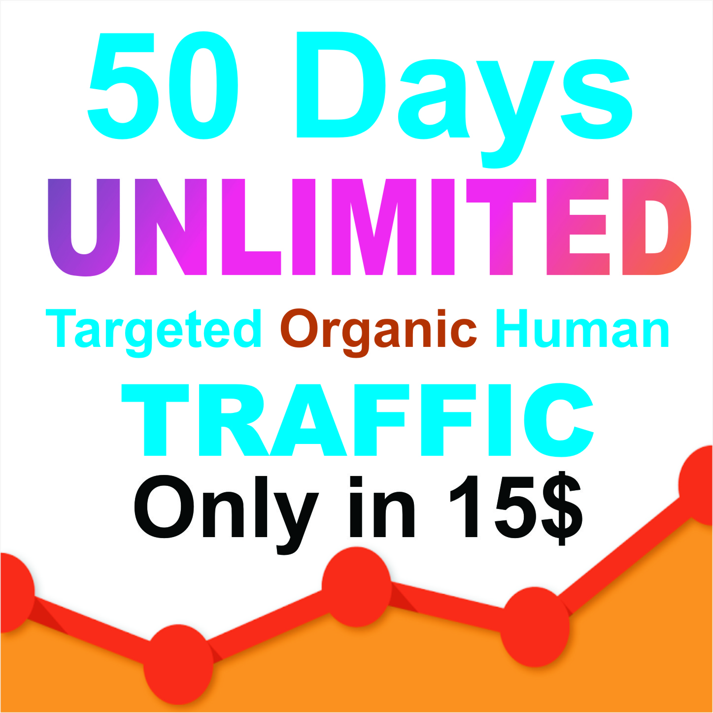 100 days UNLIMITED Keywords Targeted REAL HUMAN TRAFFIC