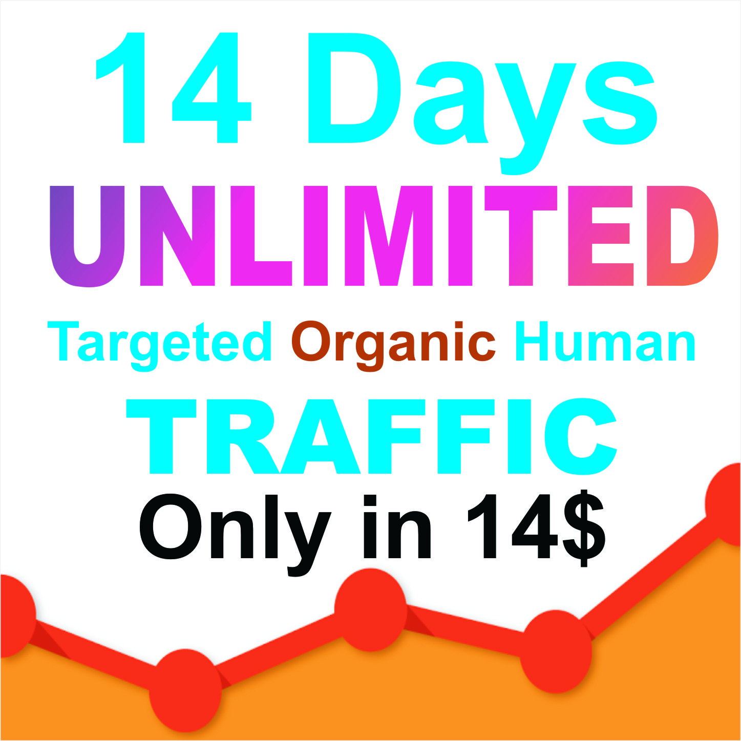 15 days UNLIMITED Keywords Targeted REAL HUMAN TRAFFIC