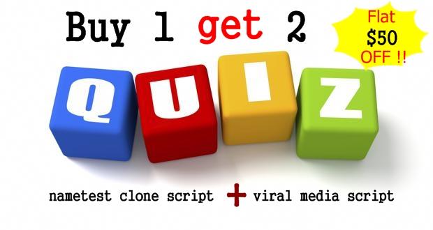 Buy nametest clone script,  heroquizz clone script,  meaww script, 9 gag clone script- BUY 1 GET 2