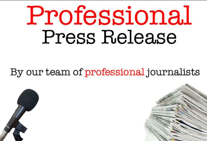 Write a professional press release and distribute it including google news
