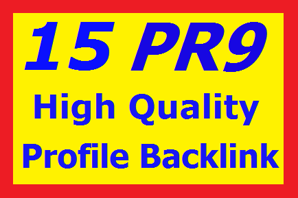 Manually 10-15 PR9 High Authority Profile Backlinks