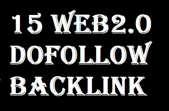 15 Whitehat Web2.0 Dofollow Backlinks DA 50+
