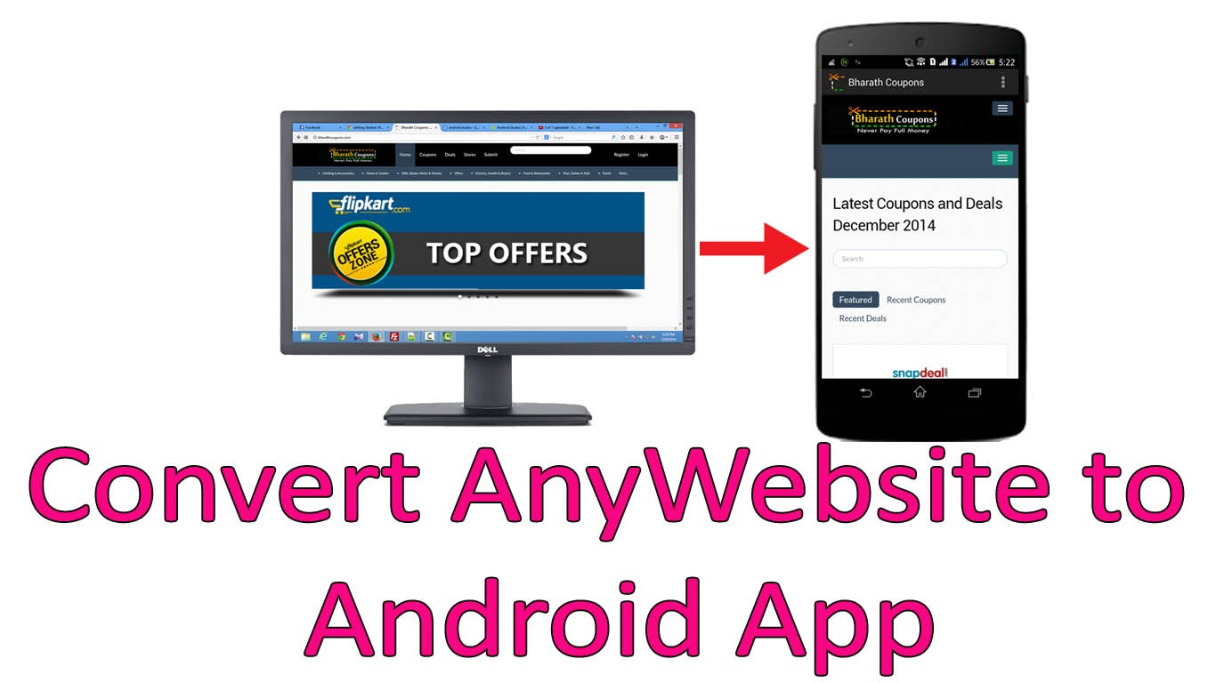 ANDROID APP, Convert Your Website Into a COOL ANDROID APP, PUBLISH it on  GOOGLE PLAY and more for $20