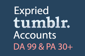 8 Tumblrs Expired Accounts with DA 99 and PA 30+