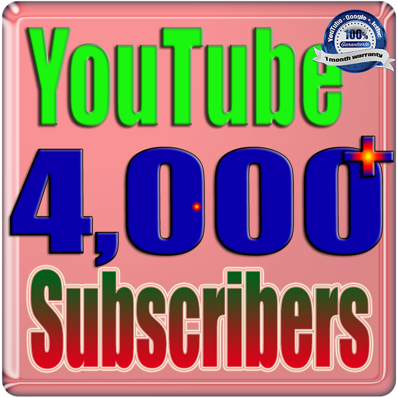 We Will Add 4000+ You;Tube Real Subscribers Safe Fast and Non Drop