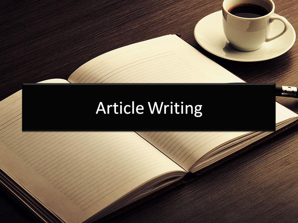 Article writing for you