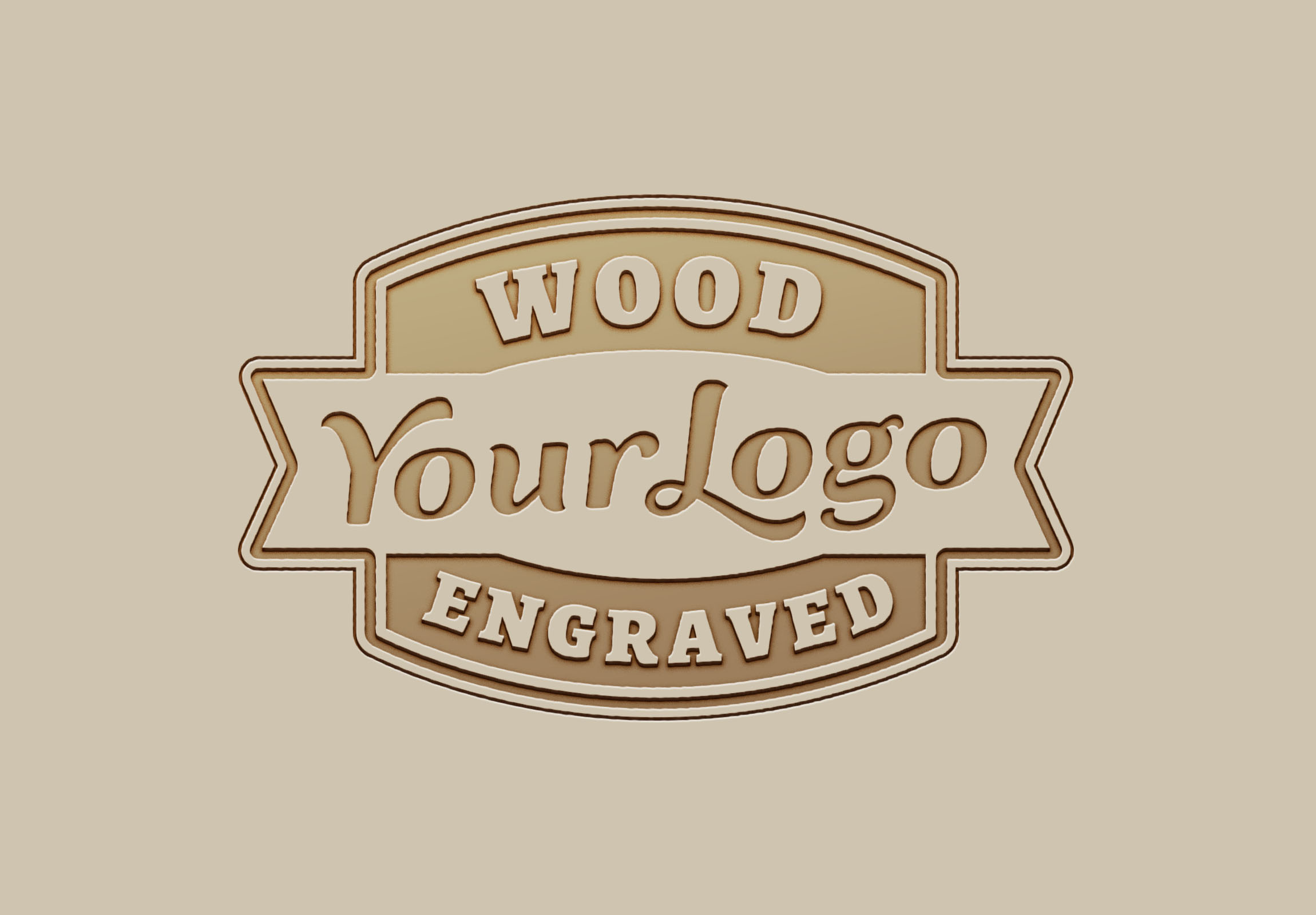 Design a attractive wood logo