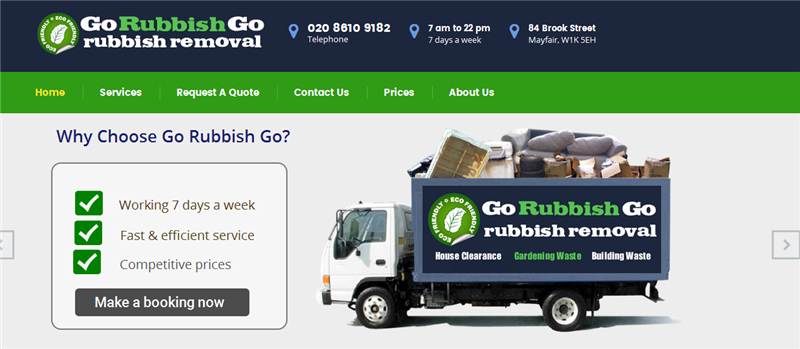 House Clearance & Rubbish Removal Website for Sale