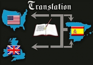 translate English to Spanish and viceversa up to 400 words
