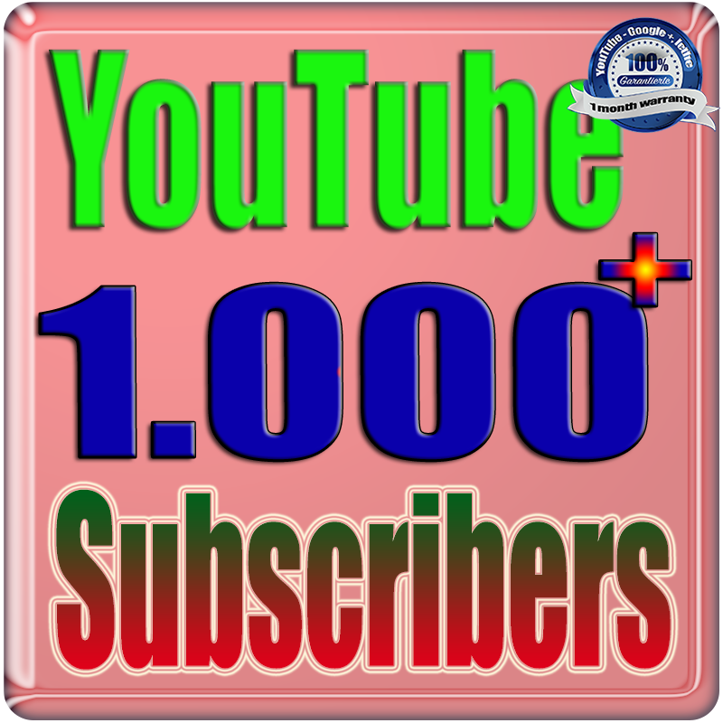 We Will Add 1000+ YouTube Real Subscribers Safe Fast and Non Drop
