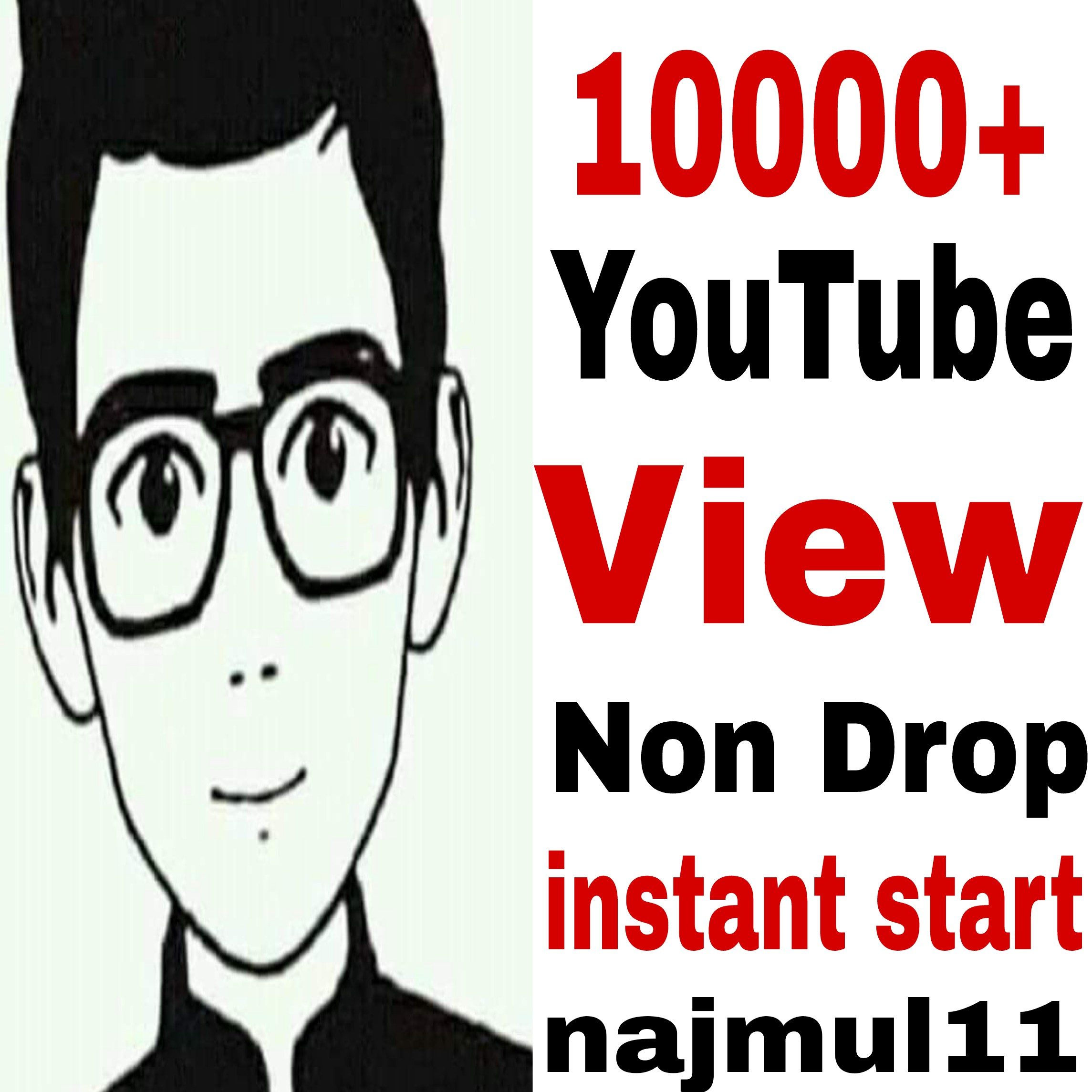 Give you 10k/10000 High Retention can be any time drop no guaranteed video promotion just 24/32 hours completed