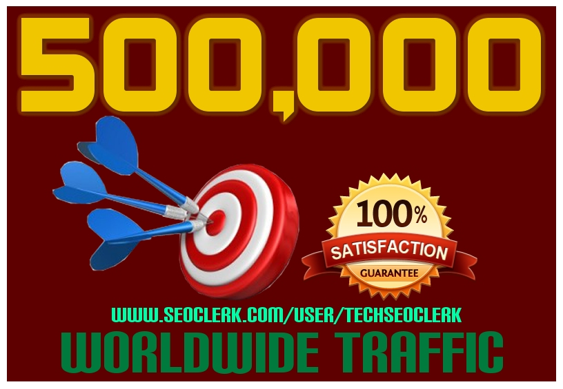 DRIVE 500,000+ Half Million TARGETED Human Traffic to...