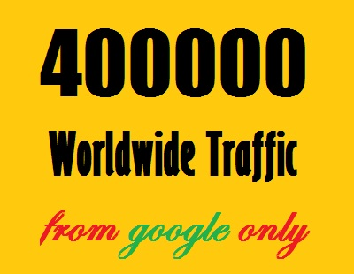 400000 Web Traffic Worldwide from googleSearchEngine in 40 days