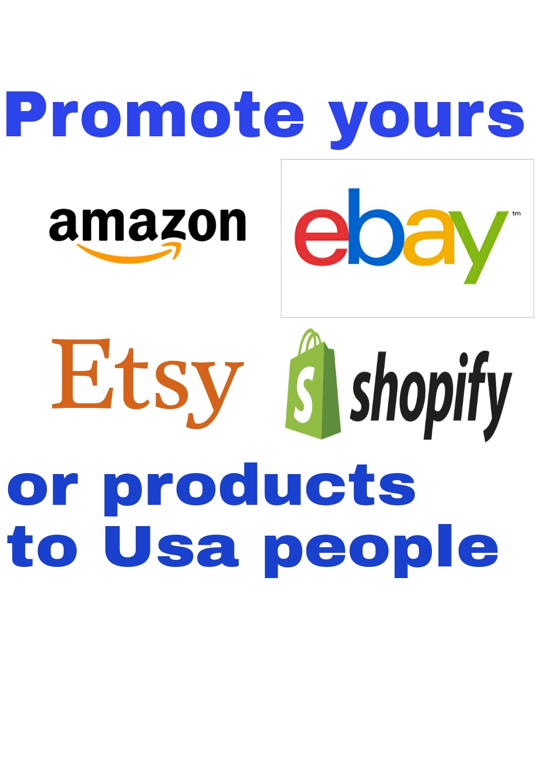 promote your amazon ebay etsy shopify store products ...