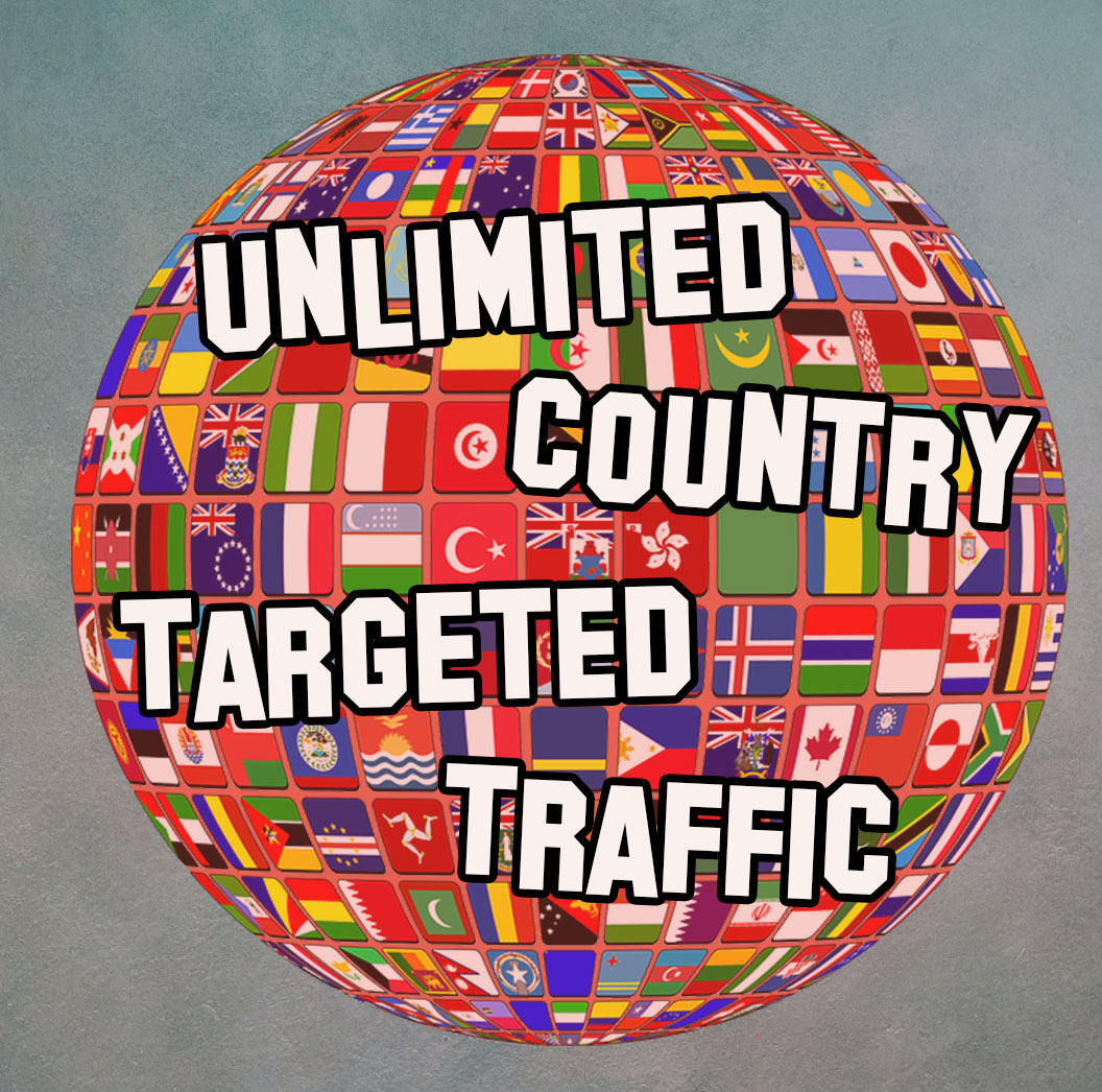 UNLIMITED COUNTRY TARGETED TRAFFIC FOR 30 DAYS