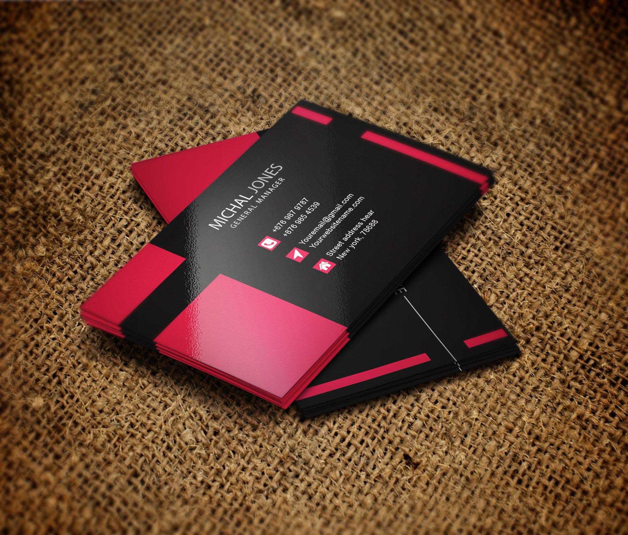design 2 sided unique and eye catching business card