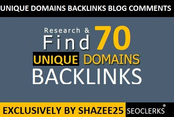 Provide 70 Dofollow Backlnks Blog Comments with Unique Domains