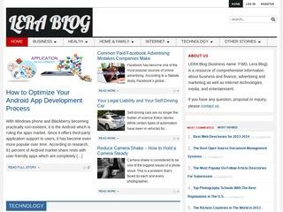 LeraBlog.org - guest posting DA 70 Alexa 23K